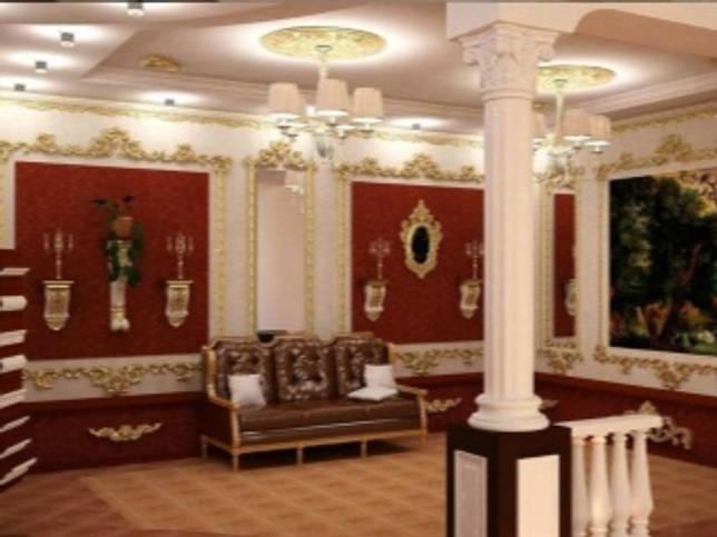 Декоративные колонны в интерьере (59 фото)