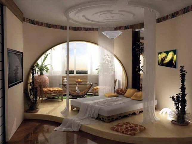 Совмещение балкона и комнаты, арка на месте стены