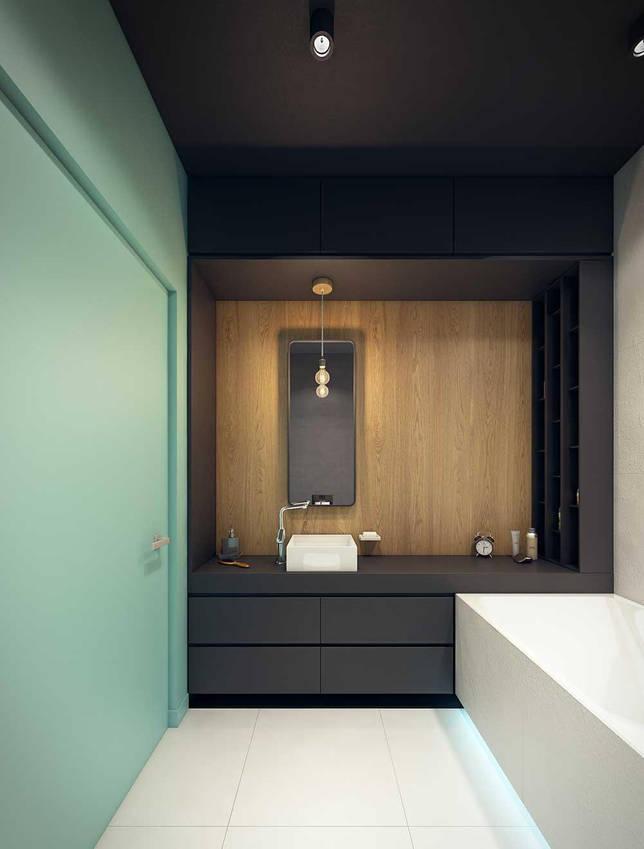 Ванная без унитаза в стиле минимализм