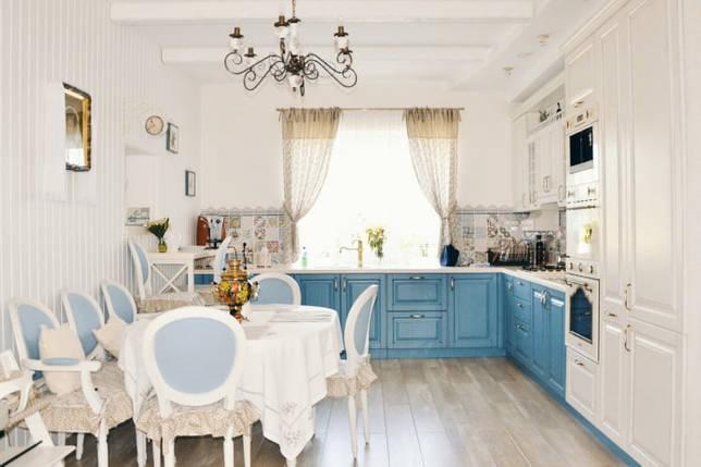 скатерть для голубой кухни
