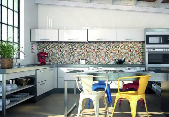 Пэчворк мозаика для большой кухни