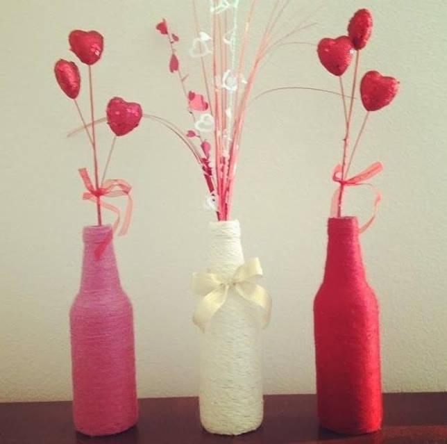 Розовый, белый и красный цвет для декора дома на 14 февраля