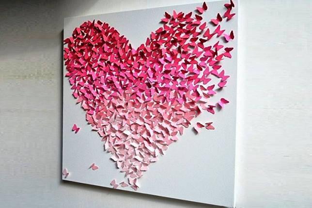 Как украсить квартиру на 14 февраля - Романтическое панно к 14 февраля