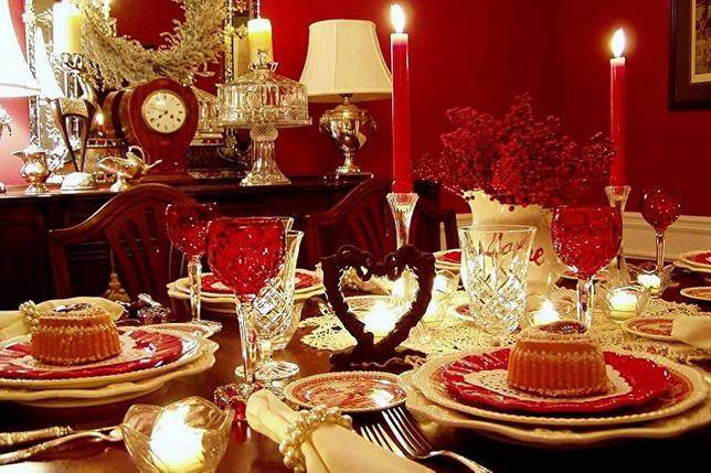 Как украсить квартиру на 14 февраля - Сервируем стол