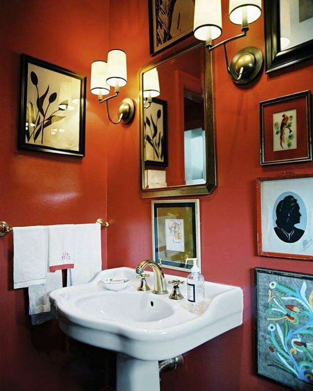 Оранжевая ванная комната (50 фото): жизнерадостные интерьеры