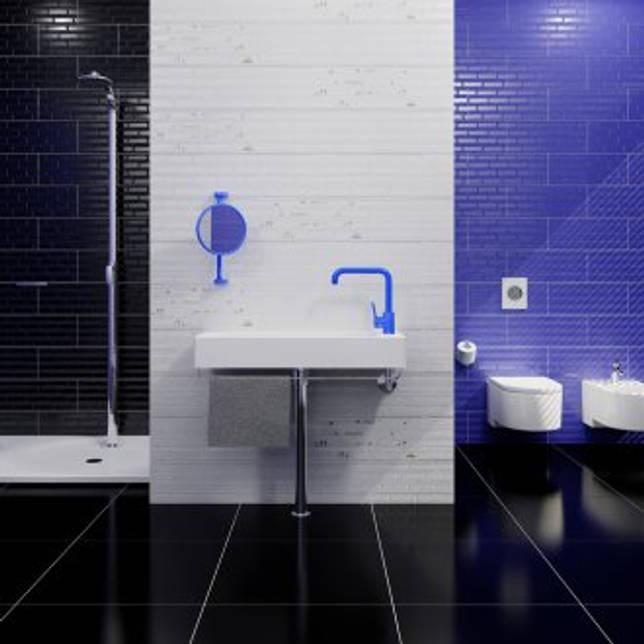 Синяя плитка в стиле авангард