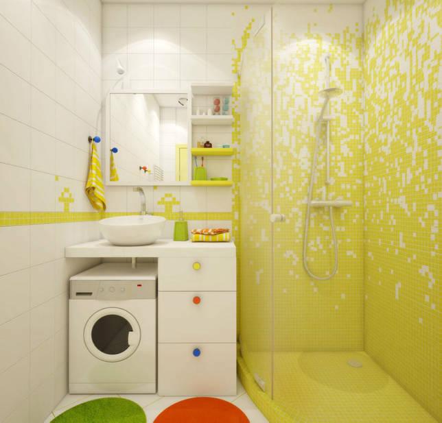 Желтая ванная комната (19 фото): примеры солнечного дизайна