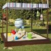 Детская песочница для дачи: как самостоятельно сделать и наполнить (20 фото)